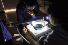 霧箱で放射線を観察