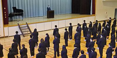 3学期始業式での校長式辞